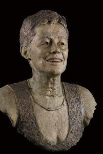 Vrouwen portret bronzen borstbeeld
