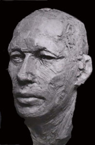 portret klei kop