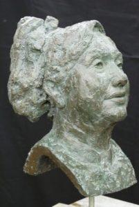 bronzen vrouw maken