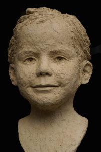meisjes portret in keramiek laten maken