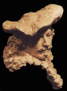 portret van afbeelding Rembrandt