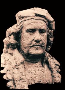 Rembrandt naar 'zelfportret met twee cirkels'